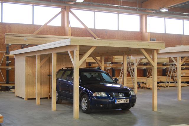 Car port 2 for Log carports