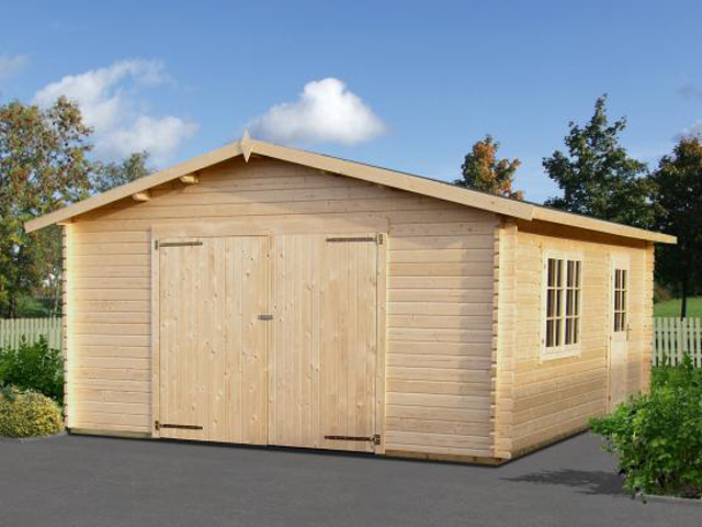 Log Cabin Double Wooden Garage Workshop Storage 4x6m Ebay