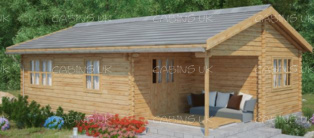 Chalet (44 mm) Log Cabin