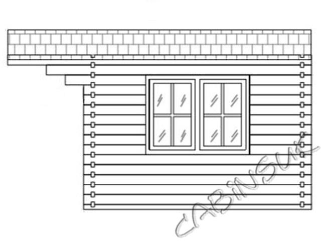 Side of Log Cabin