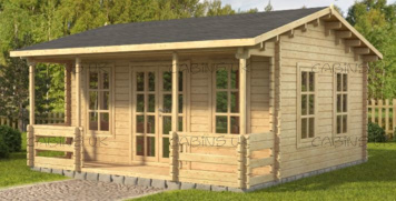 Wenlow 2 (44 mm) Log Cabin